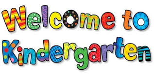 Colorful bubble letters spell Welcome to Kindergarten