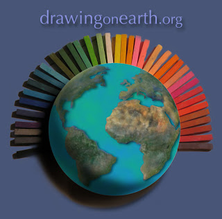 Drawingonearth.org, globe and chalk.
